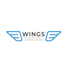 wings logo template business icon vector image