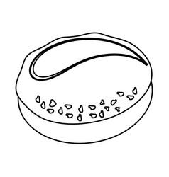 dinner roll loaf vector image