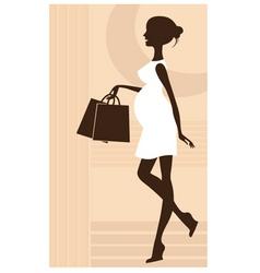 elegant pregnant woman vector image vector image