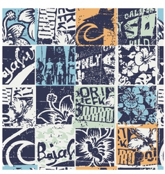 Surfing patchwork vector image vector image