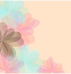 Background of stylized flowers for greeting cards vector image