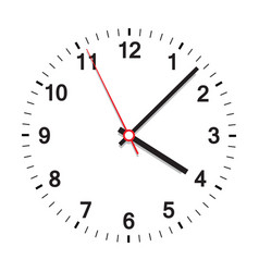 Clock icon office clock on white background vector