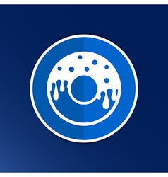 Donut sign Branding Identity Corporate logo design vector image vector image