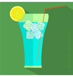 Juice glass icon vector image