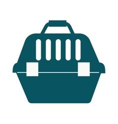 Pet travel plastic carrier case vector image