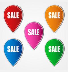 sale icons in five different colors vector image vector image