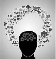 Social media man vector image vector image