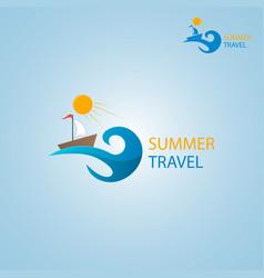 summer travel logo vector image