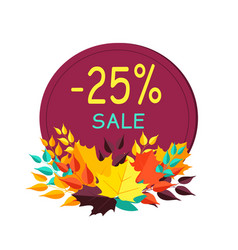 -25 sale sticker and image on vector image