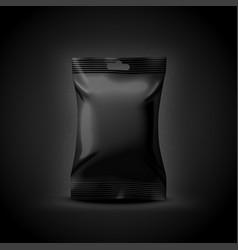 3d realistic luxury dark food sachet vector image