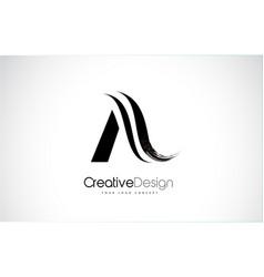 A letter design brush paint stroke vector