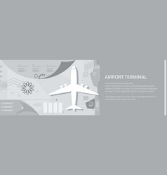 airport infographic banner vector image