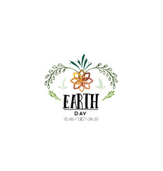 badge as part design - earth day sticker vector image