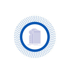 Bank banking building federal government glyph vector