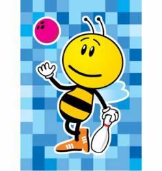 Bee bowler vector