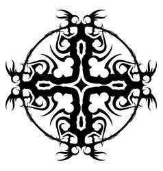 Black tribal tattoo 0003 vector