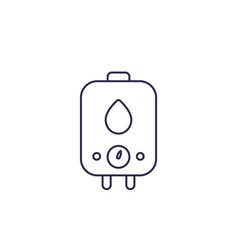 Boiler water heater line icon vector