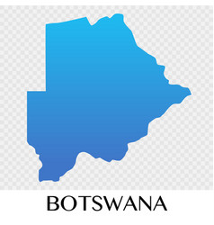 botswana map in africa continent design vector image