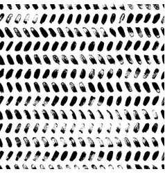 Brush strokes grunge zig zag seamless pattern vector