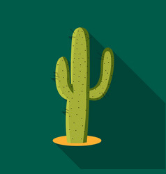 cactus icon flate singe western icon from the vector image