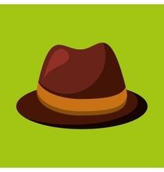 Cartoon tie hat father day symbol vector