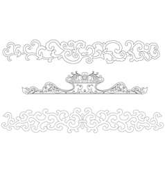 Chinese art frame vector image