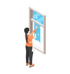 cleaning window icon vector image
