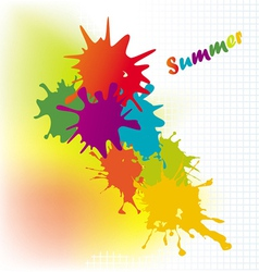 Colourful background on a summer subject vector