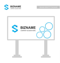 company bill board design with creative design vector image