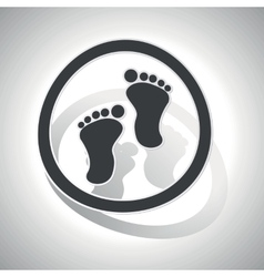 Curved footprint sign icon vector