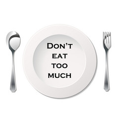 Cutlery with slogan vector