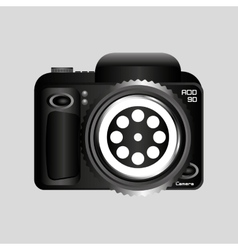 Digital photo camera reel film pin vector