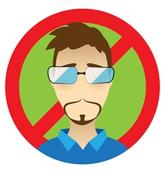 Edward Snowden flat icon CIA spy special agent vector