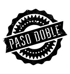 Famous dance style paso doble stamp vector