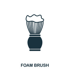 foam brush icon flat style icon design ui vector image