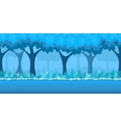 Forest game background vector image