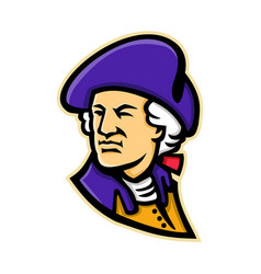 George washington mascot vector