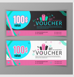 gift voucher template universal flyer for vector image