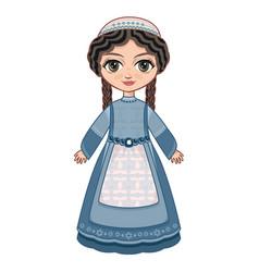 Girl in orthodox jews dress vector