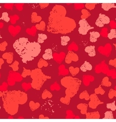 Grunge Hearts Valentine Background Painted vector image vector image