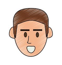 guy face cartoon vector image