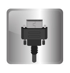 Hdmi cable video connection vector