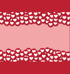 heart shape emoticon with blank copyspace for vector image