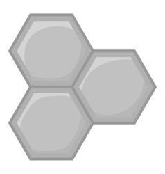 Honeycomb of bee icon black monochrome style vector