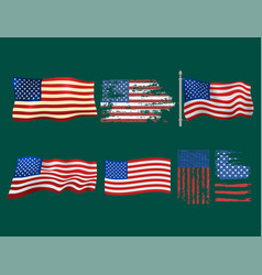 Independence day usa flags united states american vector