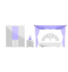 interior bedroom vector image