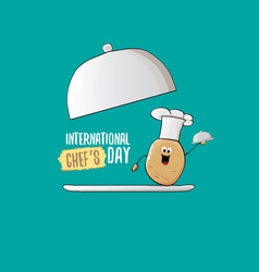 international chef day greeting card or banner vector image