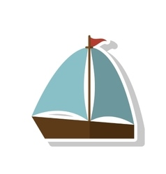 Isolated sailboat ship design vector image