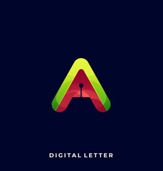 Letter a template vector