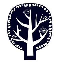 Magic tree sticker vector